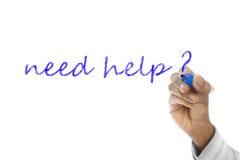 Need Help word written on wipe board Royalty Free Stock Photo
