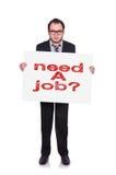 Need a job Royalty Free Stock Image