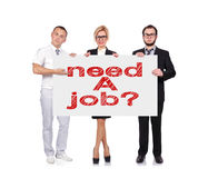 Need a job Stock Image