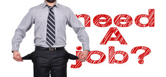 Need a job concept Royalty Free Stock Photo