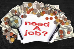 Need a job Stock Photography