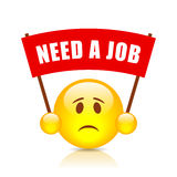Need a job red banner Royalty Free Stock Images