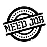 Need Job rubber stamp Stock Photography