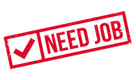 Need Job rubber stamp Stock Image