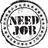 Need job stamp. Abstract grunge rubber stamp with the text need job Stock Photos