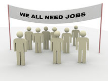 Need jobs Stock Image