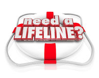 Need a Lifeline Life Preserver Words Help Desperate Need Aid Royalty Free Stock Photography