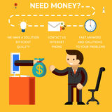 Need money concept Royalty Free Stock Image