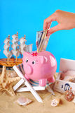 Need money for summer holidays Stock Photos
