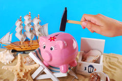 Need money for summer holidays Royalty Free Stock Photography