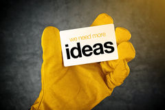 We Need More Ideas Business Card Royalty Free Stock Image
