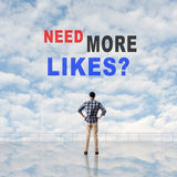 Need More Likes? Royalty Free Stock Photography