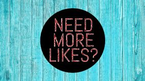 Need More Likes 001 Red Color High Resolution Blue Background. Design vector illustration