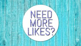 Need More Likes 002 Red Color High Resolution Blue Background. Design royalty free illustration