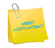 Need motivation message post illustration Royalty Free Stock Photo