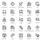 Logistic Delivery Line Vector Icons Set 10 Royalty Free Stock Image