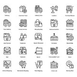 Logistic Delivery Line Vector Icons Set 5 Royalty Free Stock Photos