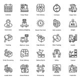 Logistic Delivery Line Vector Icons Set 6 Stock Photo