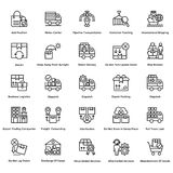 Logistic Delivery Line Vector Icons Set 11 Stock Photography