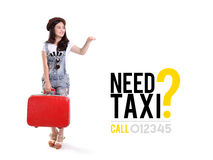 Need Taxi? advertising design Royalty Free Stock Images