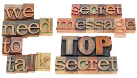 We need to talk - top secret Royalty Free Stock Photos