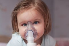 Need to use inhaler royalty free stock photography