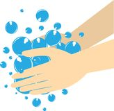Hand Washing is very important stock illustration