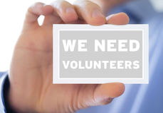 We need volunteers Stock Photos