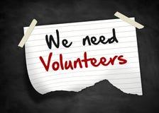 We need Volunteers Stock Photo