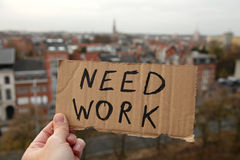 Need work. Trying to find a job in the city Stock Images