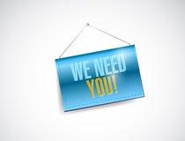 We need you hanging sign illustration Stock Photo