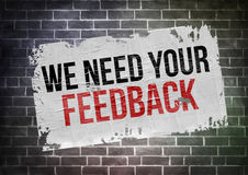 We need your feedback Royalty Free Stock Images