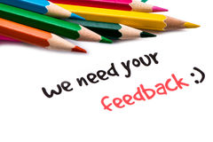 We need your feedback Royalty Free Stock Photography