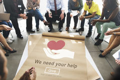 We Need Your Help Welfare Donation Concept Stock Photo