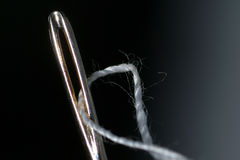 Needle. With line Royalty Free Stock Image