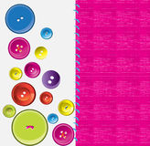 Needle, button, thread. Illustration background Royalty Free Stock Images