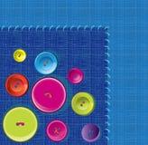 Needle, button, thread background Stock Image