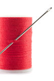 Needle and cotton. Royalty Free Stock Photo