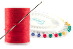 Needle and cotton. Stock Photography