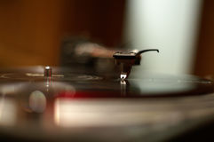 The needle DOF. The needle on the record, tight DOF Royalty Free Stock Photography