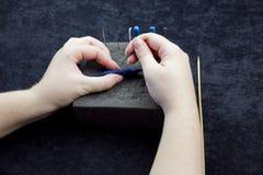 Needle Felting Stock Image