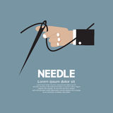 Needle In Hand. Vector Illustration Stock Photography