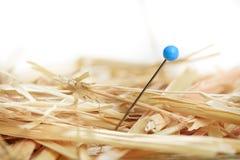 Needle in haystack. Closeup of a needle in haystack Stock Photo
