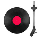 Needle head and disc Royalty Free Stock Image