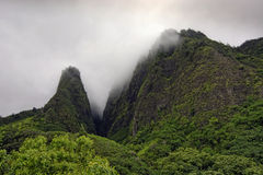 The needle, Iao Valley State Park, Maui, Hawaii Royalty Free Stock Images