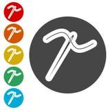 Needle icon, Thread and needle icon. Simple  icons set Stock Image