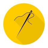 Needle with long shadow Stock Image
