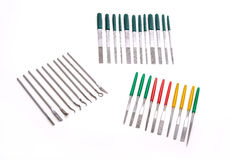 Needle Mini Diamond File Sharpening Set Royalty Free Stock Image