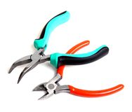 Needle-nose pliers and cutters Royalty Free Stock Photos