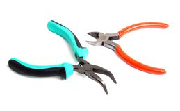 Needle-nose pliers and cutters Royalty Free Stock Photography